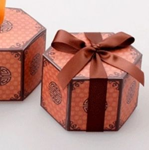 50pcs Chinese Style Hexagon Candy Box